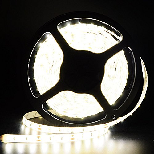 Happy Hours - New & Hot Cool White 16.4 Feet (5 Meter) 300 Leds Flexible LED Light Strip Led Light Kit Super Bright + DC 12V Plug - Sunglasses Deals Mall