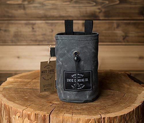 STATIC Waxed Canvas Chalk Bag | Gunpowder (Made in the USA) ()