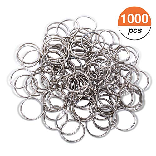 Favourde 1000pcs 12 mm Open Jump Rings Connectors for Birthday Boards, Valentine, Chore Boards, Arts and Crafts