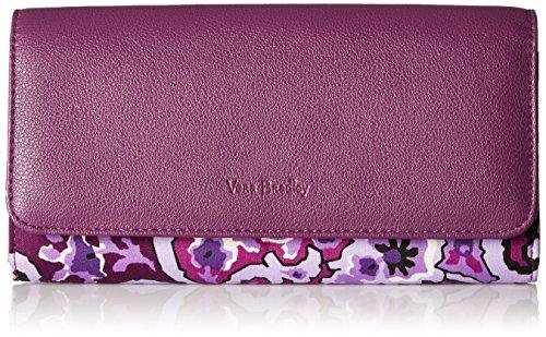 Vera Bradley Women's RFID Audrey Wallet-Signature, Lilac Paisley, One Size