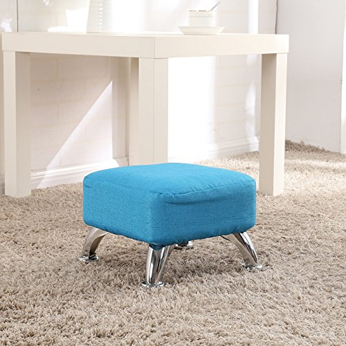 STJK$BMJW Living Room Round Stool to Low Stool to Remove and Wash Cloth Children Stool Living Room Sofa Chair Coffee Table Bedroom Shelf Footrest (2620Cm) Light Blue Square Stool by STJK$BMJW