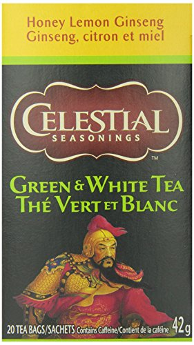 Celestial Seasonings Green Tea Honey Lemon Ginseng, 20-count (Pack of6) (Lemon Herbal Ginseng Honey)