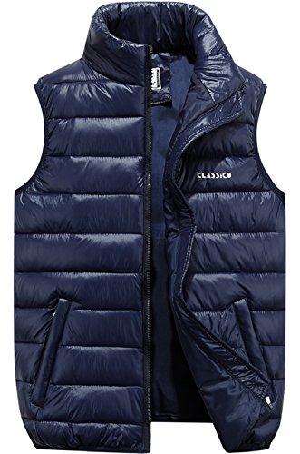 JYG Men's Winter Puffer Vest Outerwear Lightweight Quilted Warm Sleeveless Jacket – DiZiSports Store