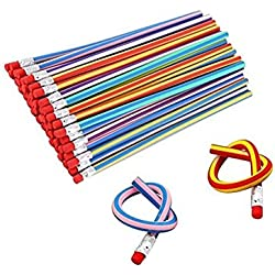 Haawooky Kid's Children Flexible Soft Pencil Magic Bend School Fun Equipment, 30 Piece