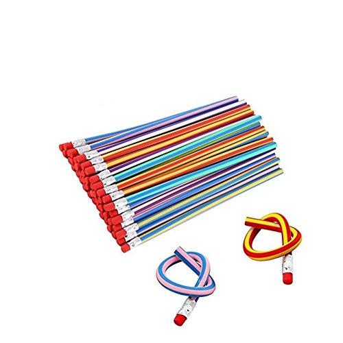 Haawooky 35 Pieces Flexible Soft Pencil Magic Bend Pencils for Kids Children School Fun Equipment by Haawooky (Image #8)