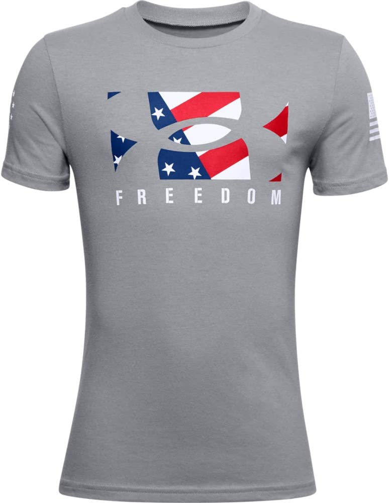 Under Armour Boys' Freedom Logo New T-Shirt: Clothing