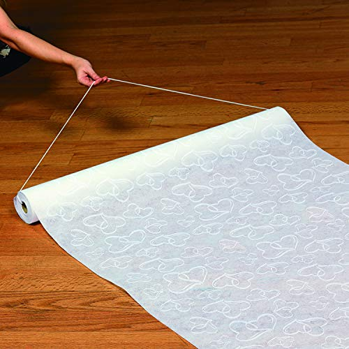 Fun Express Aisle Runner for Weddings - Two Hearts, Perfect for Indoor, Outdoor, Beach Weddings - Polyester 3'X100'...