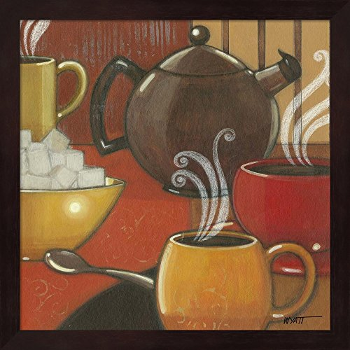 Great Art Now Another Cup I by Norman Wyatt Jr. Fine Art Print with Wood Box Frame and Glass Cover, 13 x 13 inches
