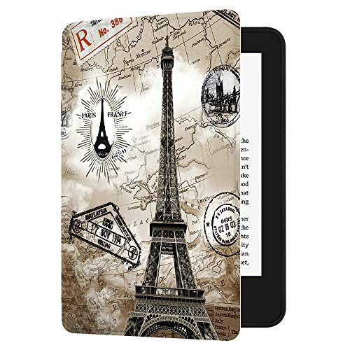 Huasiru Painting Case for All-New Kindle (10th Generation-2019 Only) with Auto Sleep/Wake, Retro Tower