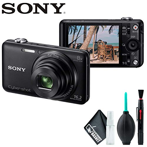Sony Cyber-Shot DSC-WX80 Digital Camera (Black) with Cleaning Kit