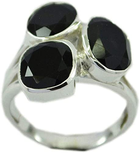 Gemsonclick Natural Sterling Silver Black Onyx Ring Oval Stone bezel Style Handmade Size 5,6,7,8,9,10,11