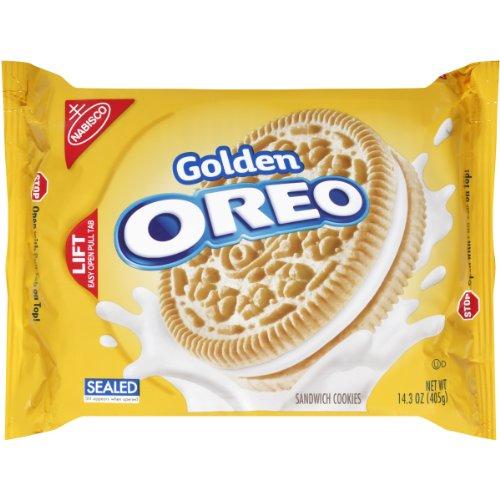 OREO Golden Sandwich Cookies Vanilla Flavor 12 Resealable 143 oz Packs
