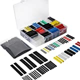 YGDZ 580 pcs 2:1 Heat Shrink Tube 6 Colors 11 Sizes and 127pcs 2:1 7 Sizes Tubing Set Combo Assorted Sleeving Wrap Cable Wire Kit for DIY