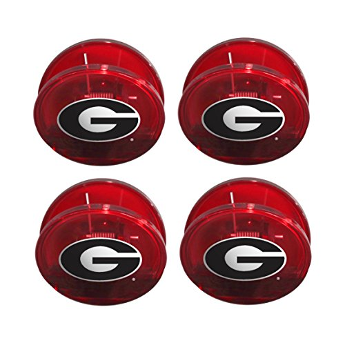 NCAA Georgia Bulldogs Magnetic Chip Clip, 4-Pack (Georgia Chip)