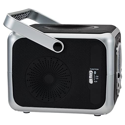 Aux FM radio Bluetooth Jensen Portable Bluetooth Music System with CD Player
