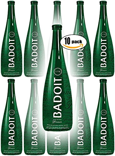 Badoit Natural Spring Sparkling Water, 11.2oz Glass Bottle (Pack of 10, Total of 112 Oz)