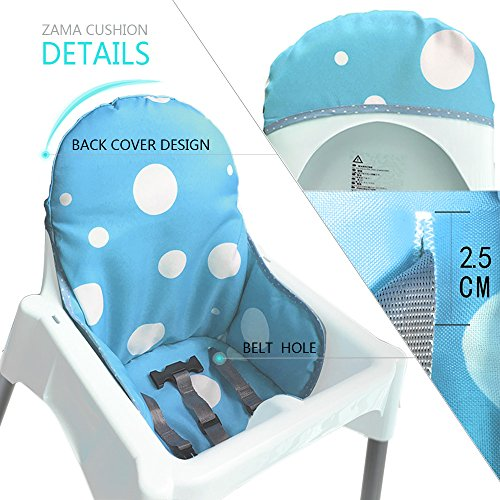 51H7e9EujdL - IKEA Antilop Highchair Seat Covers & Cushion By AT, Washable Foldable Baby Highchair Cover IKEA Childs Chair Insert Mat Cushion,ONLY For IKEA ANTILOP HIGHCHAIR (Blue)