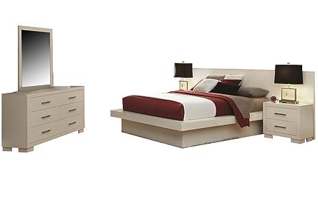 Amazon.com: Coaster jessica Bedroom Set with Queen Bed, Nightstand ...