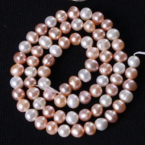 Joe Foreman 5-6mm Natural Freshwater Cultured Pearl Round Loose Beads For Jewelry Making Wholesale Beads Multi 15
