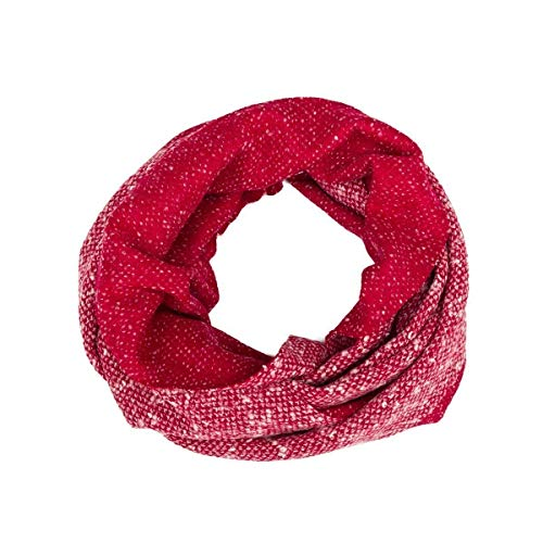 (Soft Scarf, Circle Scarf, Head Scarf, Infinity Scarf, Loop, Snood, Hood, Neck, Reversible, Women, Girl, Unisex, Wool, Red, White, Strawberry, Dots, One size, Italian Style, Handmade, Florence Italy)