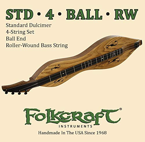 Folkcraft Mountain Dulcimer String Set, Ball Ends (.011