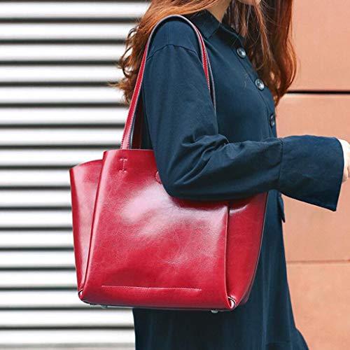 Pu 33 42inch 4 Red Bandolera 42 11 Desplazamientos Bolso Mujeres Mujer Cuero Para 11 Clutch29 De Genuino 29cm 11 qB1O6t4
