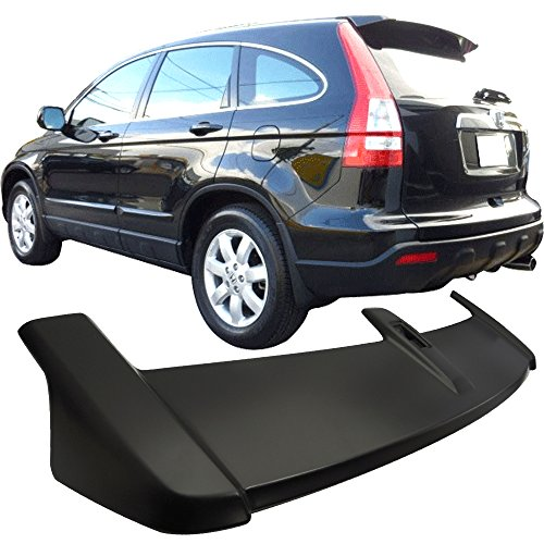 Roof Top Spoiler Fits 2007-2011 Honda CR-V CRV | OE Style ABS Unpainted Black Hatchback Boot Deck Lip Wing Other Color Available By IKON MOTORSPORTS | 2008 2009 (Honda Fit Spoiler)