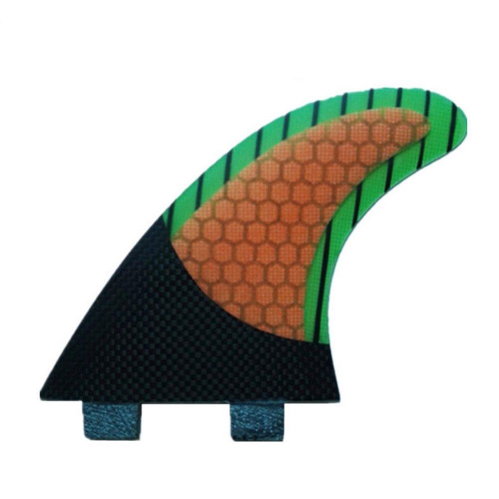 YQ Surfboard Fins Propulsori Da Surf Base Realizzati In Vetroresina E Nido D'ape, 3 Pezzi/Set