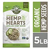 Manitoba Harvest Organic Hemp Hearts Raw Shelled Hemp Seeds, 5lb; with 10g Protein & 12g Omegas per Serving, Non-GMO, Gluten Free