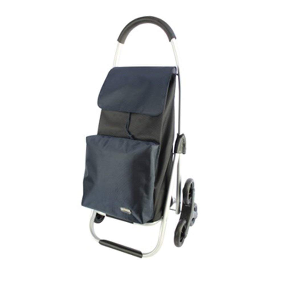 Portable Trolley, ZGL Trolley Trolley Aluminum Alloy Portable Shopping Cart Climbing The Stairs Old Man Pull Rod Car Groceries Hand Car Baggage Trailer Hand Car (Color : Red) ( Color : Navy Blue )