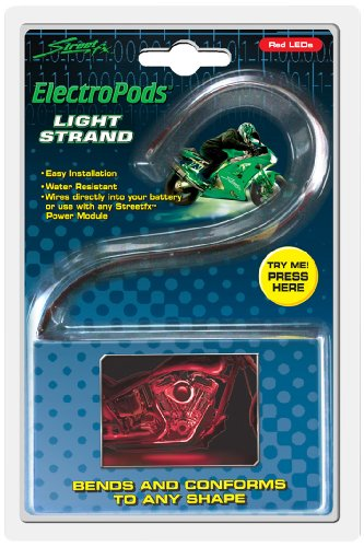 (Street FX 1044612 ElectroPods Yellow Motorcycle LED Light Strand)