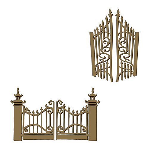 Halloween Gates - Laser Cut and Engraved Chipboard - 4 piece -