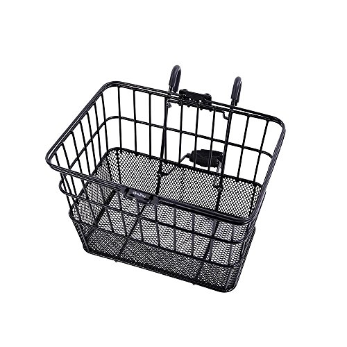 Generic O-8-O-1722-O acket Basket Black k with Lift Off Bicycle Basket NEW Front Off Bic with Bracket h Botto Wire Mesh Bottom HX-US5-16Mar28-419 by Generic