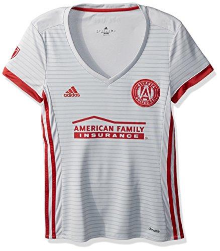 adidas MLS Atlanta United Adult Women Replica S/Wordmark Jersey,X-Large,Light Grey Adult Away Replica Jersey
