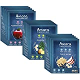 Amara Baby Food, Introduction to Textures, Healthy Baby & Infant Food, Organic Fruits, Veggies, and Cereals for Baby's First Meals - Apple Maqui Berry, Potato & Kale, Oats and Berries (17 Pouches)