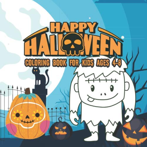 Peanuts Coloring Pages (Halloween Coloring Books for kids ages 4-8: happy halloween activity book for Children pumpkins design (halloween coloring pages for)
