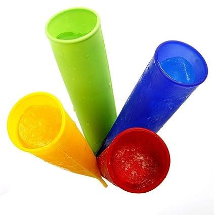 Sungpunet 4 pcs Moulds Popsicle Molde para Helado para los ...