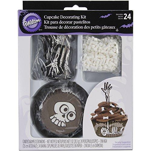 Wilton Skeleton Cupcake Combo Pack, # 415-7081- Discontinued By (Halloween Brownie Graveyard)