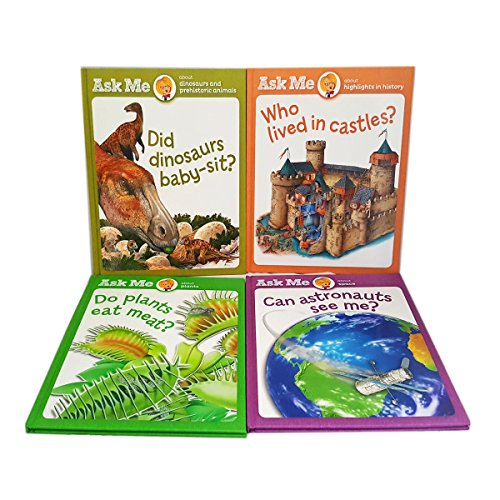 Ask Me Series Book Set of 4 - Dinosaurs, Castles, Plants & Space