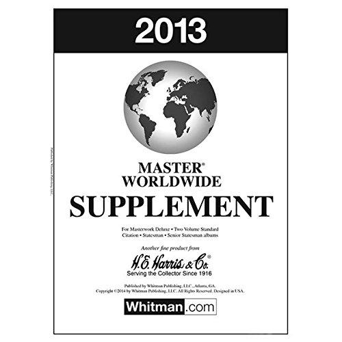 2013 H E  Harris Master Worldwide Stamp Album Supplement