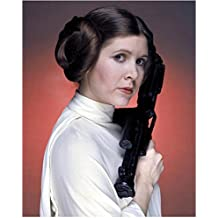 Carrie Fisher as Princess Leia Posing with Blaster 8 x 10 Inch Photo