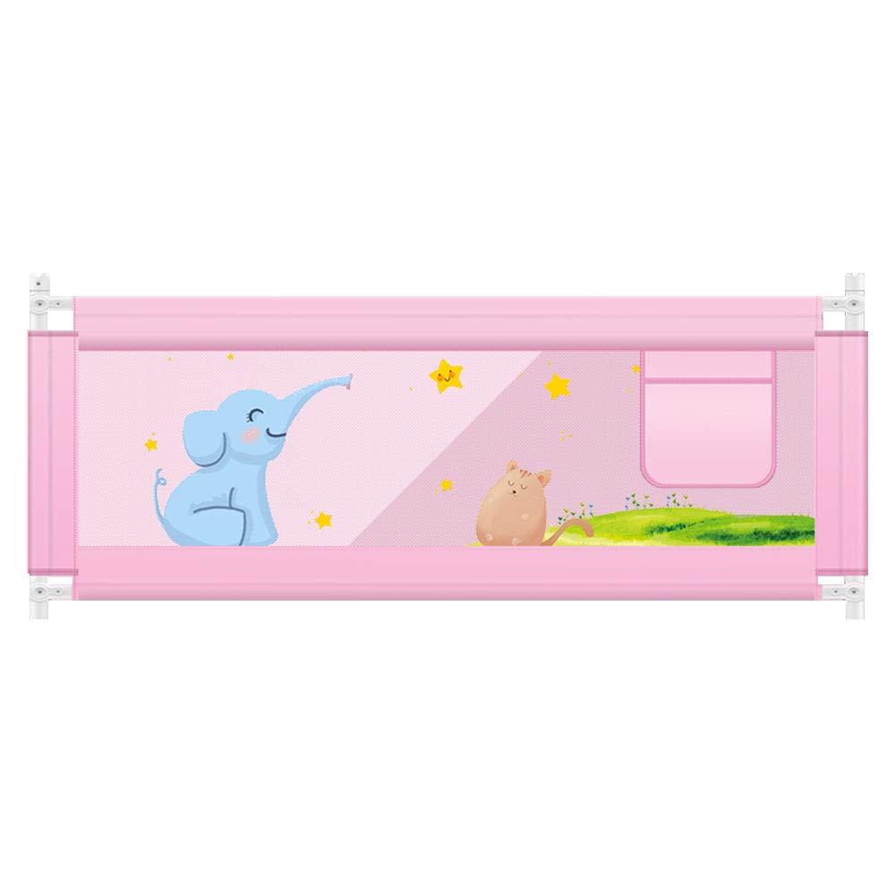 XIAOMEI 幼児子供用ベッドガードレールベビーベッドサイドフェンスユニバーサル垂直型リフト - (グリーン、パウダー) - / 1.5 / 1.8 / 2.0M (色 : B, サイズ さいず : 2M) 2M B B07L8V4QNP
