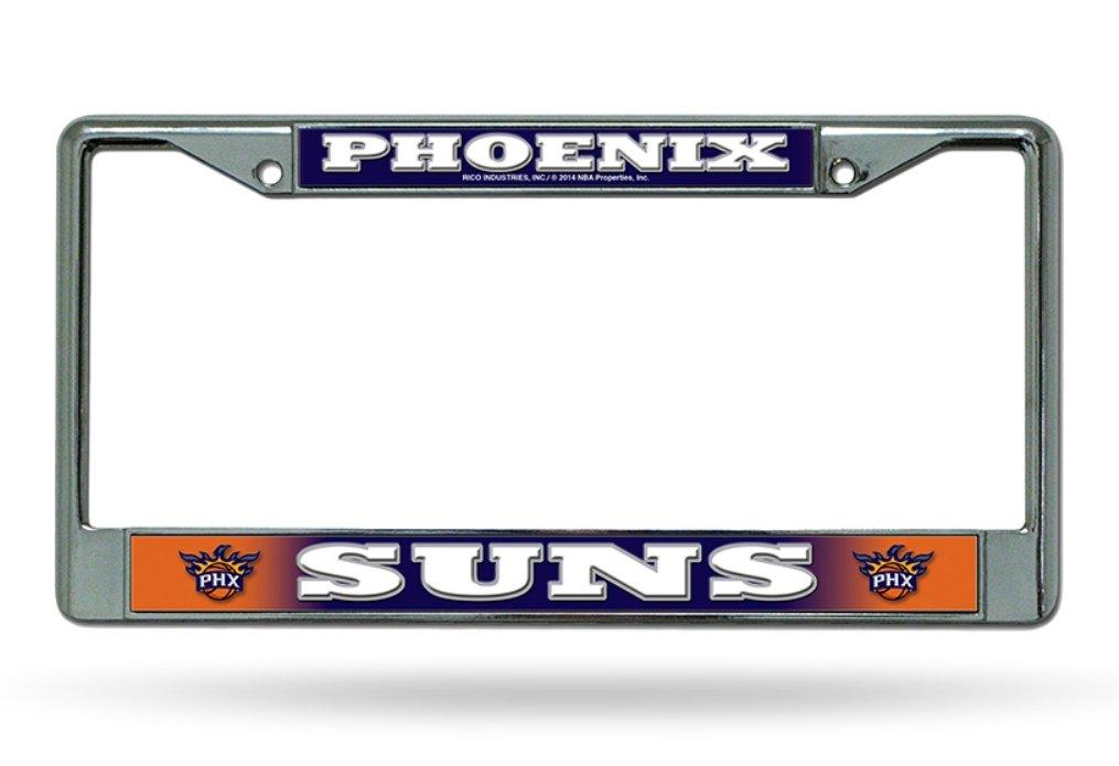 Rico Phoenix Suns NBA Chrome Metal License Plate Frame
