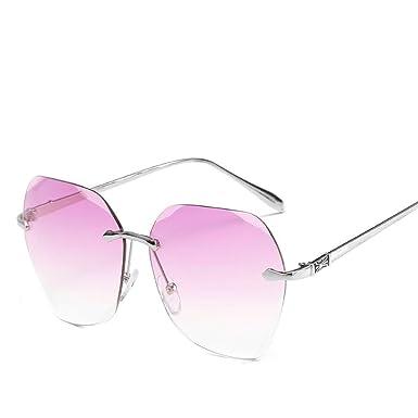 8d80fc1899f Amazon.com  Wsunglass New color marine frameless sunglasses ...