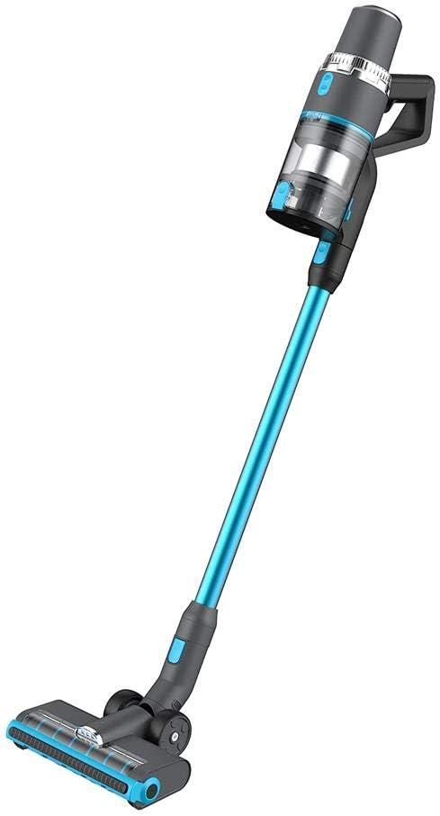 Scopa Elettrica Potente JASHEN V16 Multiple Spazzole Motore Brushless 350W Luci a LED efficace per i Peli Batteria Durata 40min Aspirapolvere senza Fili Portatile con Display
