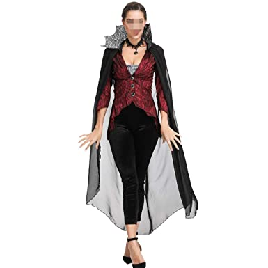 HENONG EU Disfraz de dama de Halloween Vampire Devil Queen ...