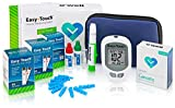 OWell Easy Touch Complete Diabetes Blood Glucose Testing Kit, METER, 100 Test Strips, 100 Lancets, Lancing Device, Manual, Log Book & Carry Case