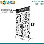 Shop4Mailers 10 x 13 Glossy Thank You Poly Bag Mailer Envelopes 2 Mil (100 Pack, Multi-Language)