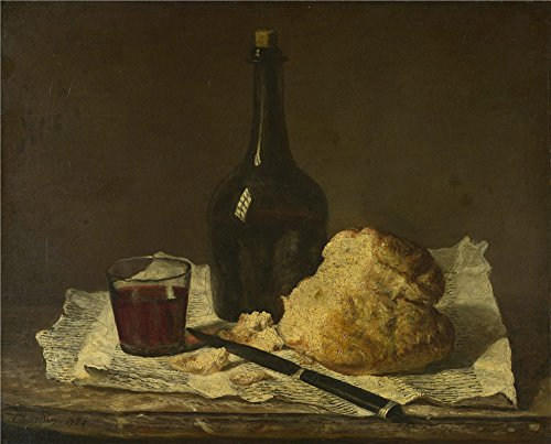 [Oil Painting 'Imitator Of Jean Simon Chardin Still Life With Bottle Glass And Loaf' 16 x 20 inch / 41 x 50 cm , on High Definition HD canvas prints, gifts for Foyer, Living Room And Study Room] (Im The Pope Costume)