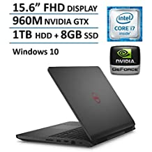 "2016 Newest Dell Inspiron 15 7559 15.6"" FHD Gaming Laptop PC, Intel i7-6700HQ Quad Core Processor 3.5GHz, 16GB RAM, 1TB HDD + 8GB SSD, NVIDIA GeForce GTX 960M 4GB GDDR5, Backlit Keyboard, Windows 10"